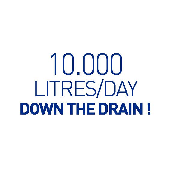 Salvalacqua _ 10000 litres/day down the drain